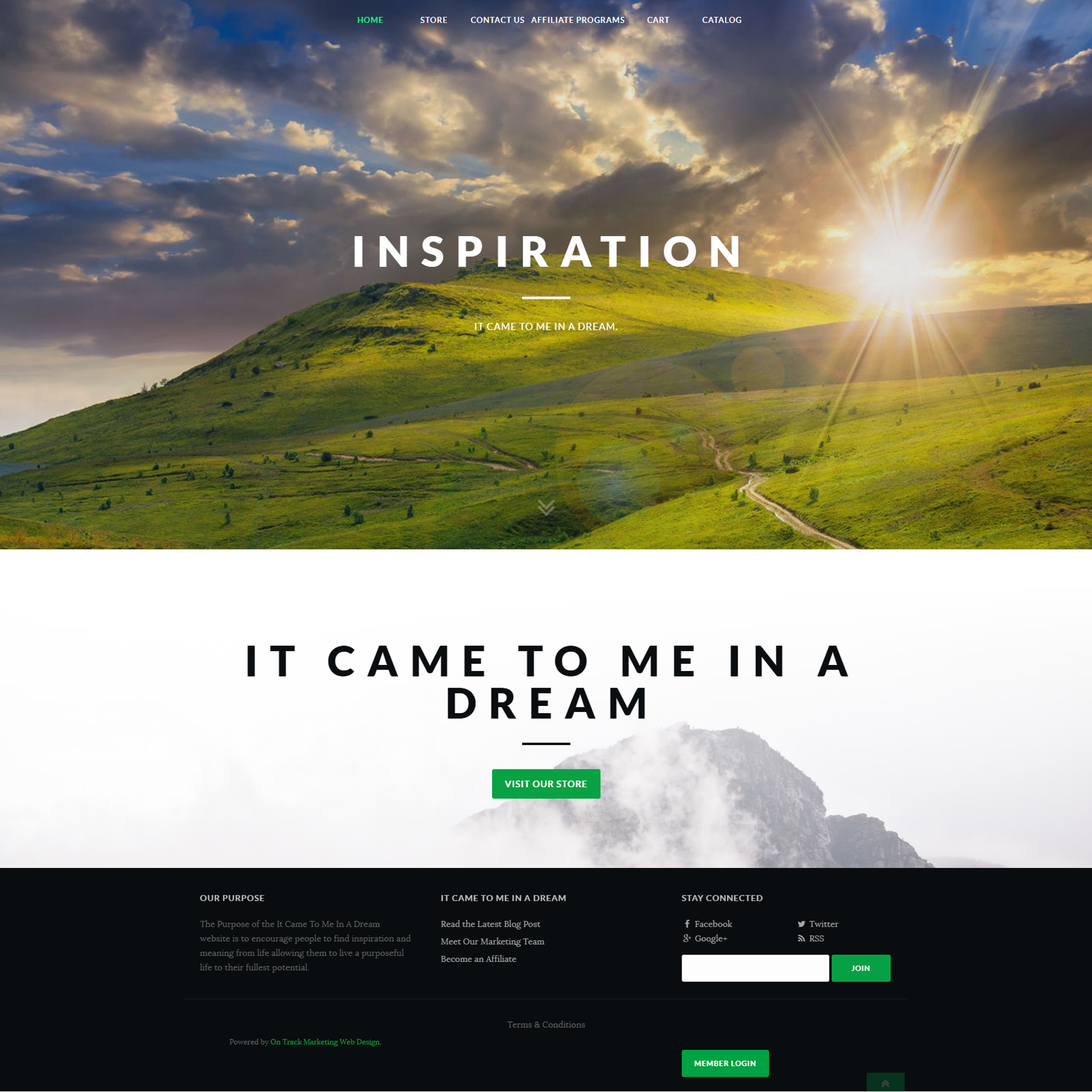 It Came To Me In a Dream Website Design and Development