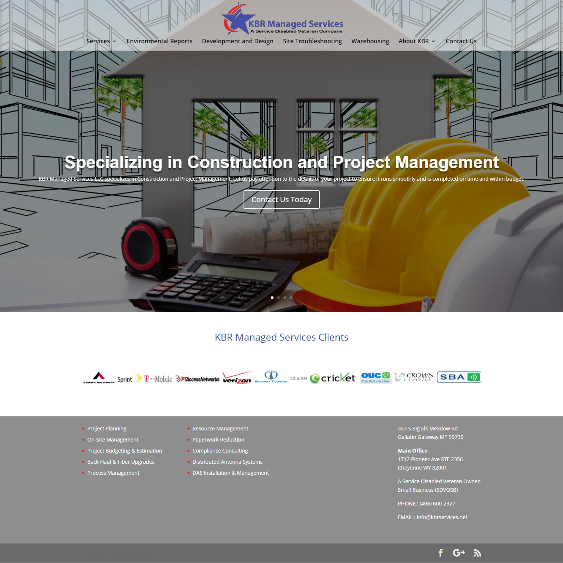 KBR Managed Services Website Design and Development