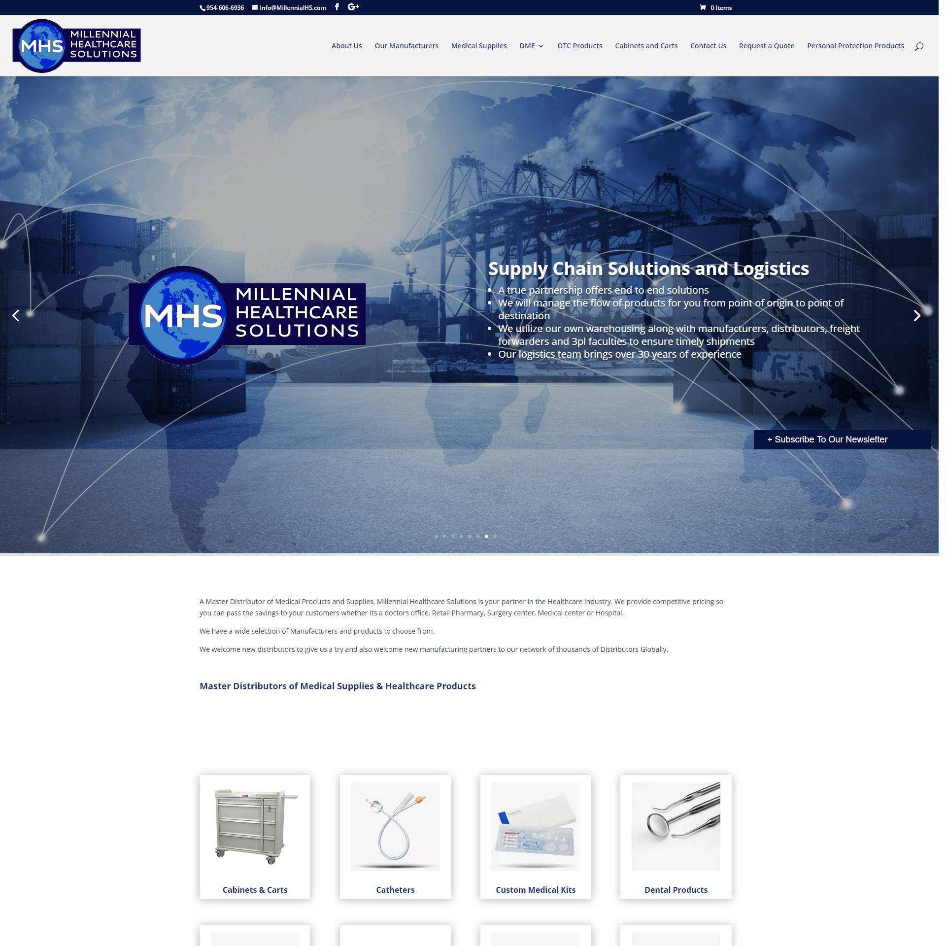 Millennial Healthcare Solutions Website Design and Development